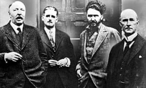 From left: Ford Madox Ford, James Joyce, Ezra Pound and John Quinn at Pound's place in Paris in 1923