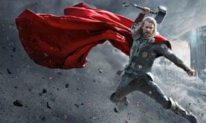 Red beard … Chris Hemsworth as Thor.