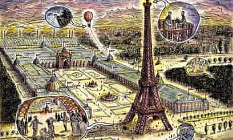The Eiffel Tower by Steven Appleby for Black Francis's  The Good Inn.