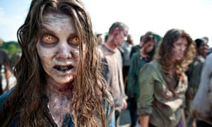 """""""'It's a buffet out there' … Zombies from the TV series Walking Dead. """""""