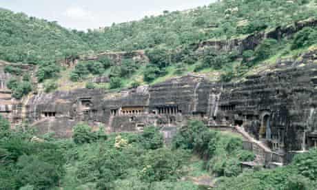 India. Maharashtra. Ajanta Caves.