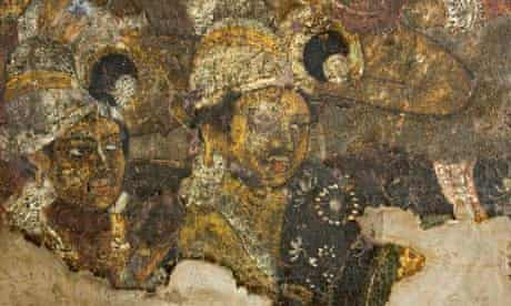 A mural in cave 10 of the Ajanta caves.