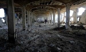 Ruins of al-Awdah food factory