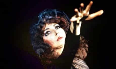 Inhabiting another reality … Kate Bush performing in 1986.