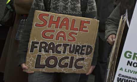 Fracking protest sign