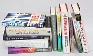 Guardian First Book award longlisted titles.