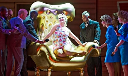 Eva-Maria Westbroek in the lead role in Anna Nicole at the Royal Opera House.