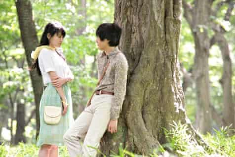 Still from the film of Murakami's Norwegian Wood (2011).
