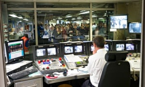 Control room at Victoria tube station