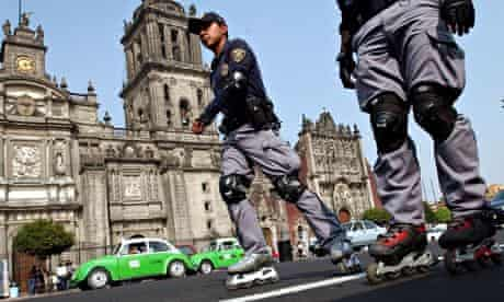 Mexico City's rollerblading police