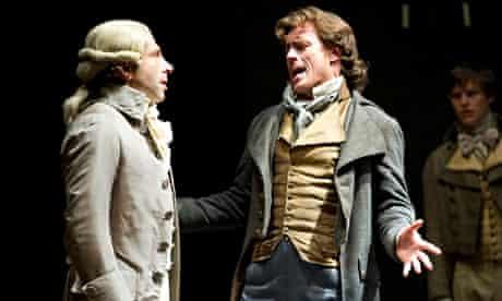 Robespierre (Elliot Levey) and Danton (Toby Stephens) in Danton's Death by Georg Bu