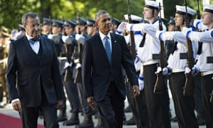 Obama with Toomas Hendrik Ilves