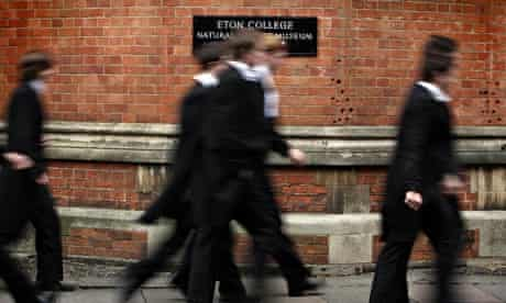 Boys at Eton College in Windsor, Berkshire.