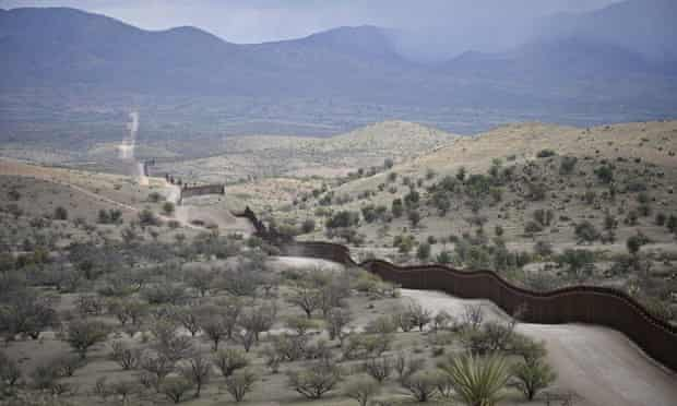 The US-Mexico border fence s