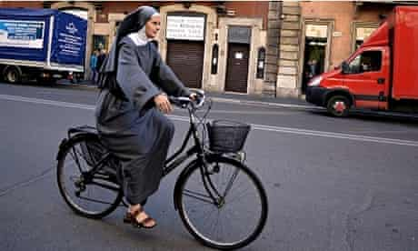 'Powered by her sandals' … Nun on a Bicycle by Jonathan Edwards