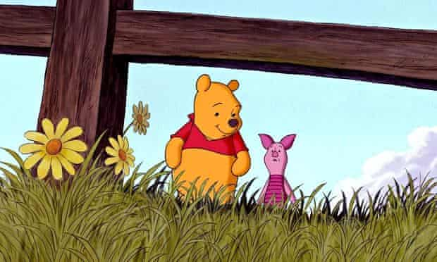 Living on borrowed time … Piglet, with Winnie the Pooh.