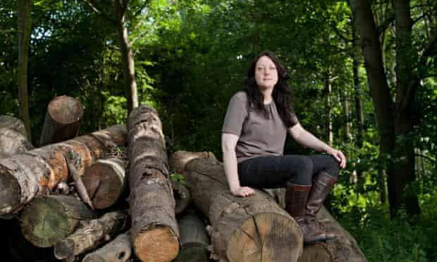 Helen Macdonald, pictured in Elveden Forest, Norfolk.
