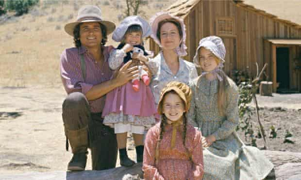 American tale … Melissa Gilbert, bottom, as the author in the TV series Little House on the Prairie.