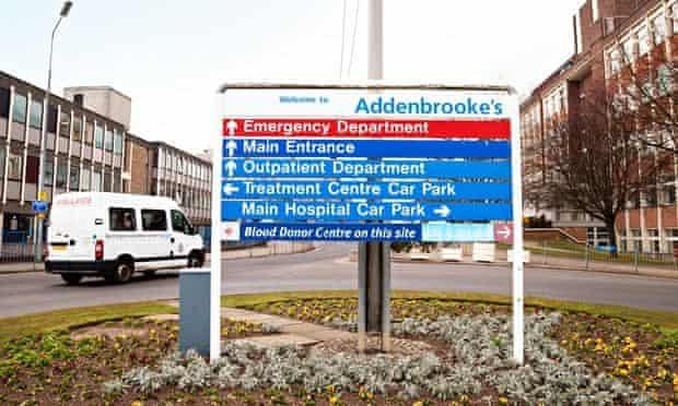 Addenbrookes hospital in Cambridge