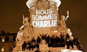 A vigil in La Place de la République in Paris.