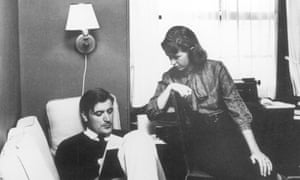 Ted Hughes with Sylvia Plath in 1958