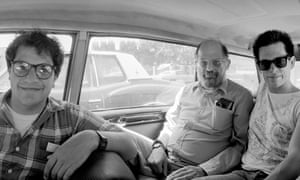 From left: Steve Silberman, Allen Ginsberg and Marc Olmsted in San Jose, California, in 1986.