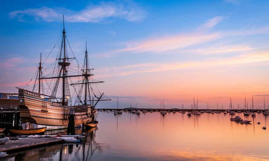 a replica of the Mayflower in Massachusetts, US.