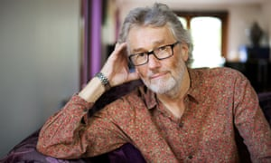 Iain Banks at home in 2013.