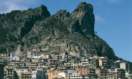 Houses in the mountains of Ogliastra, Sardinia, where centenarians live active lives.