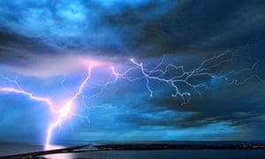 'Groans with derivative ambitions that recall far more accomplished fiction' … an electrical storm.