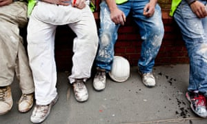 A Group Of Builders In London UK Europe. Image shot 2009. Exact date unknown.