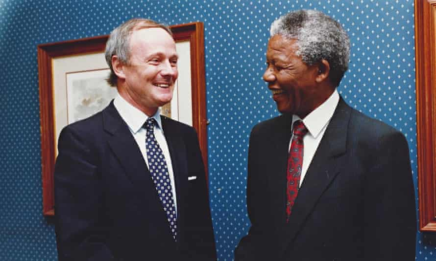 Robin Renwick with Nelson Mandela