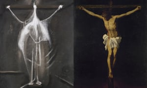 Francis Bacon and Alonso Cano paintings, from 1933 and 1638 respectively, both titled Crucifixion.