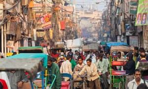 A busy market in Old Delhi, India