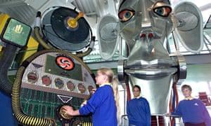 'Creative Brian', a 25ft aluminium walk-through head designed by British artist David Kemp, introduc