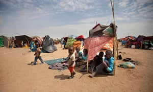 Sudanese children at the Kalma camp for Internally Displaced People (IDP) in 2014 in South Darfur.