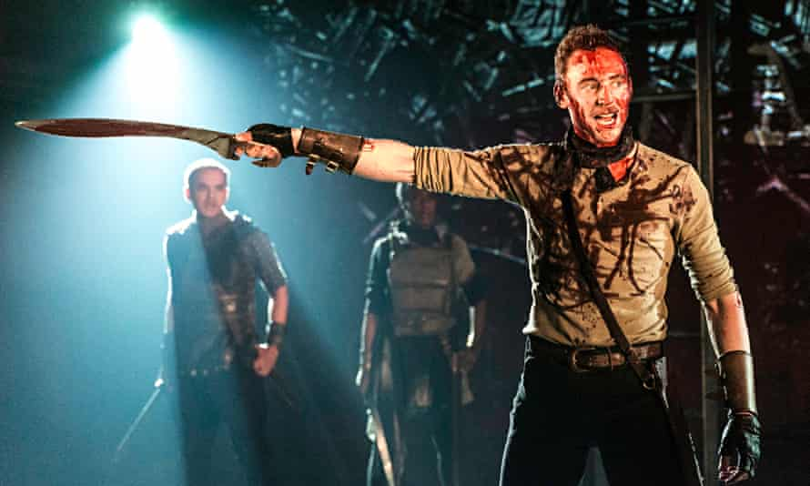Out canvassing … Tom Hiddleston as Coriolanus at London's Donmar Warehouse in2013.