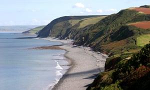 Beach and coastline in North Devon