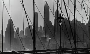 View of Lower Manhattan from Brooklyn Bridge by Esther Bubley.