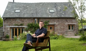 Author Owen Sheers at his home near Talgarth, mid Wales, UK
