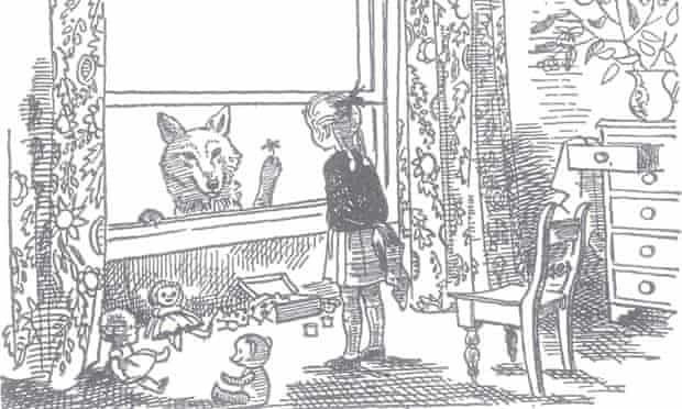 Detail from an illustration by Marjorie-Ann Watts for Clever Polly and the Stupid Wolf.