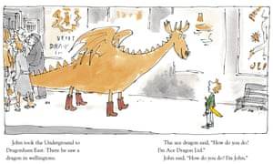 Ebullient… Quentin Blake's drawings for Ace Dragon Ltd