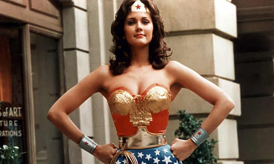 Lynda Carter as Wonder Woman in the TV series that ran from 1975 to 1979.