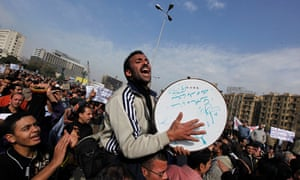 Protesters fill Tahrir Square demanding the removal of President Mubarak, 1 February 2011.