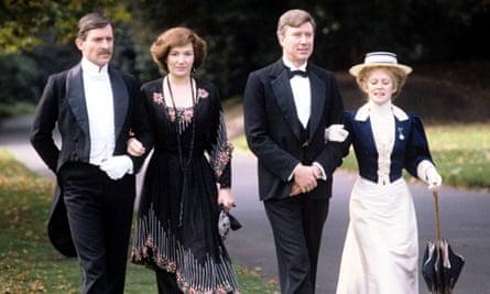 From left: Jeremy Brett, Susan Fleetwood, Robin Ellis and Vickery Turner in the 1981 TV adaptation o