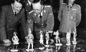 Himmler presents his birthday gifts to Hitler of Allach figurines in Berlin on the 20 April 1944.