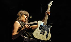 Chrissie Hynde performing with the Pretenders in 2009