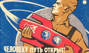 <em>The Road Is Open for Humans</em> by Konstantin Ivanov, poster 1960.