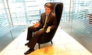 Barclays CEO Bob Diamond in big chair