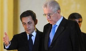 Nicolas Sarkozy and Mario Monti